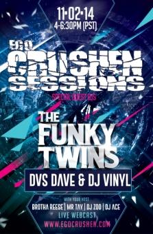 The Funky Twins DVS Dave DJs Vinyl
